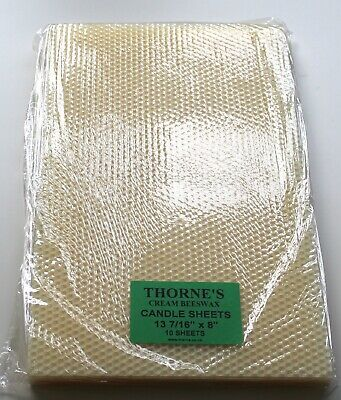 """Thorne Pure Natural Beeswax Sheets - CREAM 13 7/16"""" x 8"""" - Pack of 10 Sheets"""