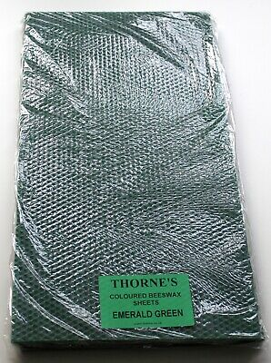 """Thorne Pure Natural Beeswax Sheets - EMERALD GREEN 16"""" x 10"""" - Pack of 10 Sheets"""