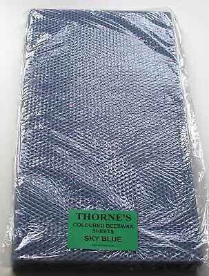 """Thorne Pure Natural Beeswax Sheets - SKY BLUE 16"""" x 10"""" - Pack of 10 Sheets"""