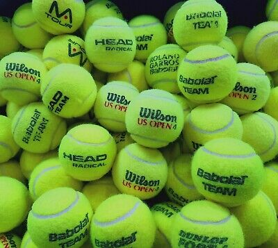 15 Used Tennis Balls. Ball Games / For Dogs. Major Manufacturers Branded Balls