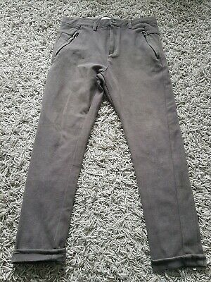 Zara Boys Trousers Age 11-12 Brown Fabric Jeans Soft