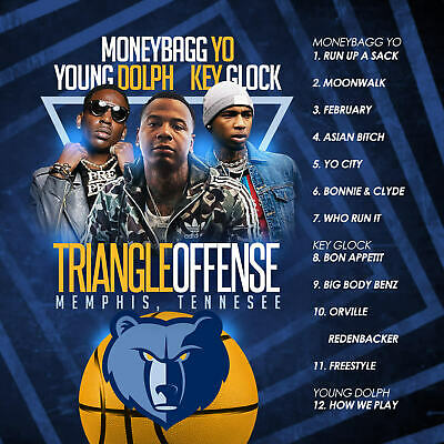 Big Mike - Triangle Offense Memphis: Moneybagg Yo, Young Dolph, Key Glo (Mix Cd)