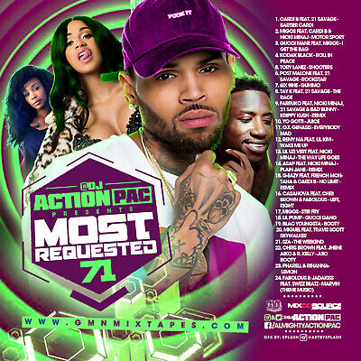 Dj Action Pac - Most Requested 71 (Mix Cd) Gucci Mane,  Post Malone, Remy Ma...