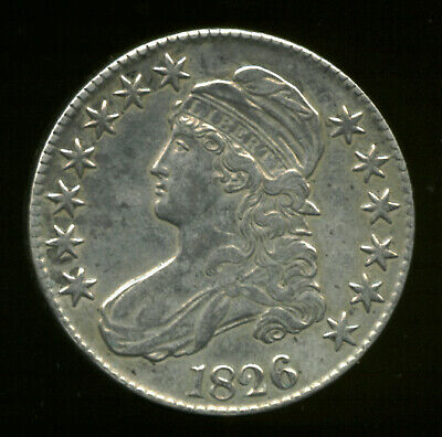 1826, (maybe O-108a), $280.00, 13.396g, Capped Bust Half Dollar