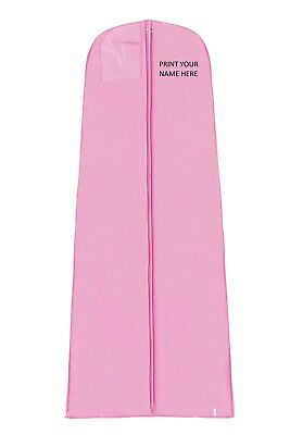 Personalised Pink Waterproof Extra Large Bridal Wedding Dress Cover Garment Bags