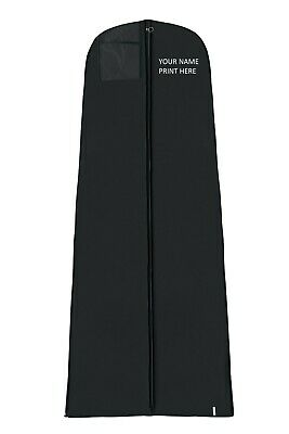 Hoesh Personalised Black Large Bridal Gown Wedding Dress Cover Garment Bags