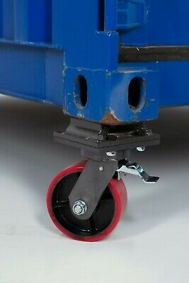 Two Cargo Container Wheel / Casters - w/ Brake, Twist Lock, 3 Ton Free Shipping