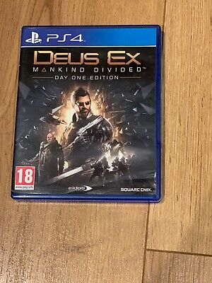 Deus Ex Mankind Divided Day One Edition PS4 PlayStation 4 Brand New Sealed