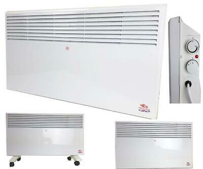 Portable Electric Panel Heater Radiator Convector Wall Mounted 1000W 1500W 2000W