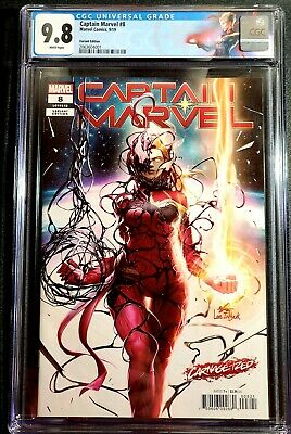 Captain Marvel # 8 CGC 9.8 In-Hyuk Lee Variant  CUSTOM LABEL - BEAUTY - Carnage