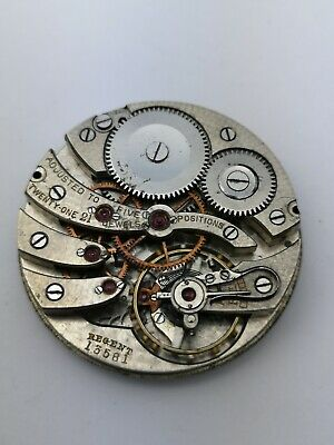 High Grade Swiss - 21 Jewels, 5 Positions Pocket Watch Movement - Ticking (G21)