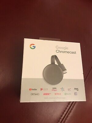 Google Chromecast 3rd Generation Media Streamer NEW & SEALED