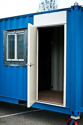 HD Cargo Container Steel Entry Door - Easy Install - Fire Rated - Free Shipping