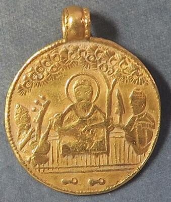India Sikh Temple Token GOLD early 19th century depicts Guru Nanak & musicians