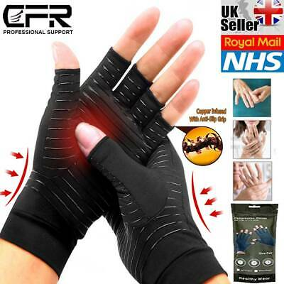 Compression Gloves Anti Arthritis Finger Brace Support Rheumatoid Pain Relief UK