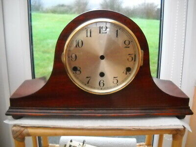 Lovely Mahogany Napoleon Hat Mantel Clock Case.