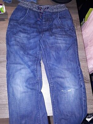 Boys Blue Jeans - 1 Rip In Knee Age 8 Yrs