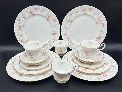 Royal Albert Peach Rose 5 Piece Place Setting x 4 Bone China England