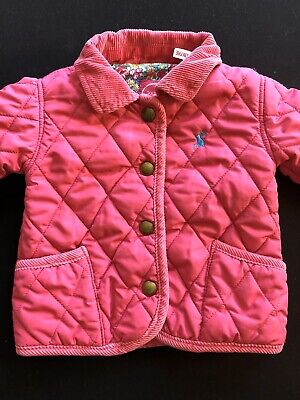 Girls Baby Joules Pink Quilted Jacket/Coat, Age 3-6m