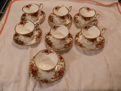 6 sets tea cup and saucer Royal Albert Old Country Rose excellent shpe