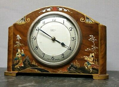 Vintage Chinoiserie 8 Day Mantle Clock with Platform Escapement