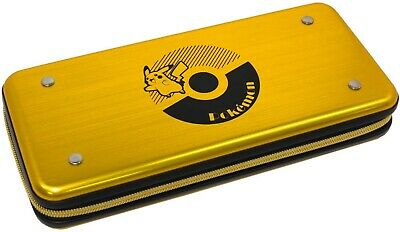 HORI Official Pokemon Pikachu Alumi Gold Case for Nintendo Switch
