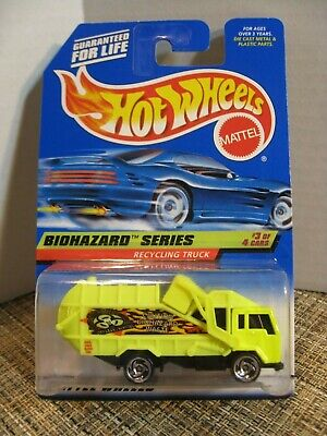 1998 Hot Wheels #719 Biohazard Series #3 Recycling Truck with skinny letters