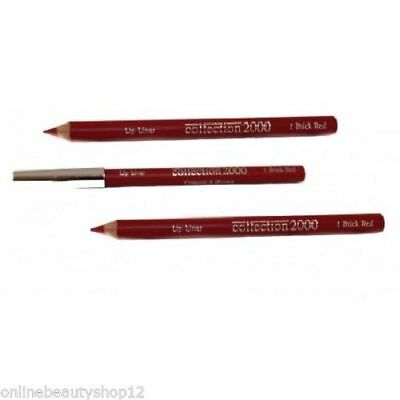 Collection 2000 Lip Liner X 12 - Shade 1 Brick Red, Party Bags, Christmas. New