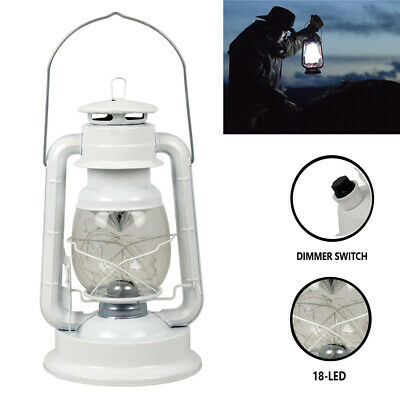 Veraltet Vintage Laterne Camping Hurricane Notfall 18-LED Weiß Lampe W / Dimmer