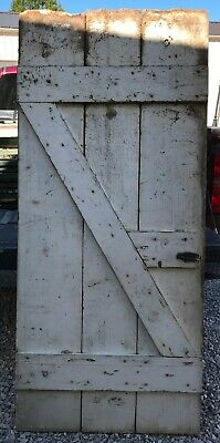 Antique Vintage Wood Barn Door Hinges Home Decor Redecorating White Wooden