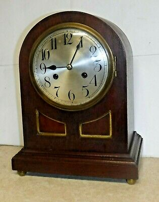 Antique Junghans Wurttemberg 8 Day Chime Bracket Clock B11 Working