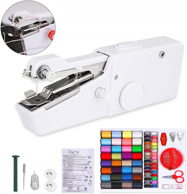 Mini Sewing Machine for Beginners Handheld Portable with Stapler Cordless Set