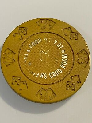 FOUR QUEENS Card Room $1 Casino Chip Las Vegas Nevada 3.99 Shipping