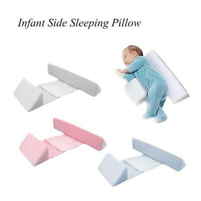 Newborn Baby Side Sleep Pilow Soft Velvet Memory Foam Pillow Anti Roll Pillow US