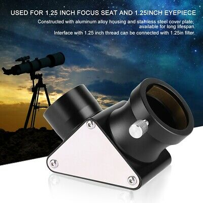 1.25 inch 90-Deg Metal Dielectric Mirror Diagonal for Astronomical Telescope