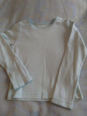 mothercare girls long sleeve blue t shirt age 5-6 years BNWOT