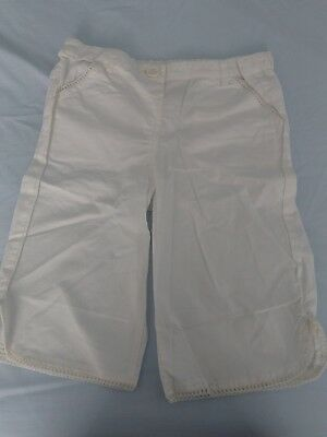 girls off white cream cotton shorts ex marks&spencers BNWOT age 12-18 months