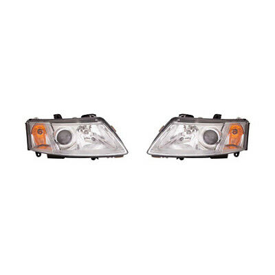 Fits Saab 93 Sedan 2003-2007/Coupe 2004-2007 Headlight Assembly Pair Driver and