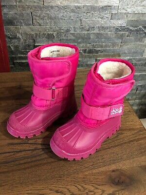 Jojo Maman Bebe Pink Snow Boots Size 6 Excellent Condition