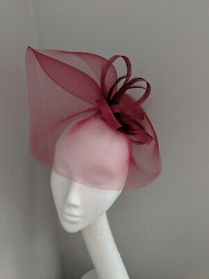 Berry Crinoline Fascinator On Clip, Races And Weddings