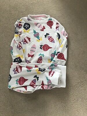 Girls Marks And Spencer Christmas Bauble Pyjamas Age 5-6 Years