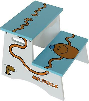 Kiddi Style MR MEN STEP STOOL Mr Tickle Wooden Child'S Furniture BNIP