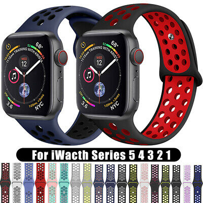 For Apple Watch iWatch Series 3 4 5 Soft SILICONE Sport Strap Band 38 40 42 44mm