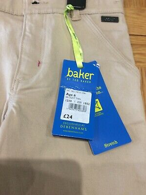 Bnwt Baker By Ted Baker Debenhams Beige Chino Trousers Age 6 Years