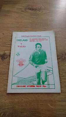 Ireland v Wales 1986 Unofficial Souvenir Rugby Programme