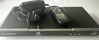 Sagem DTR94250 Freesat + plus Digital TV receiver / recorder with remote and psu
