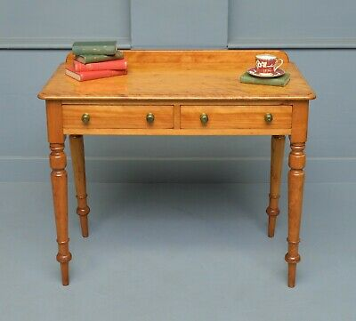 Victorian Satinwood Hall Console / Writing / Side Table