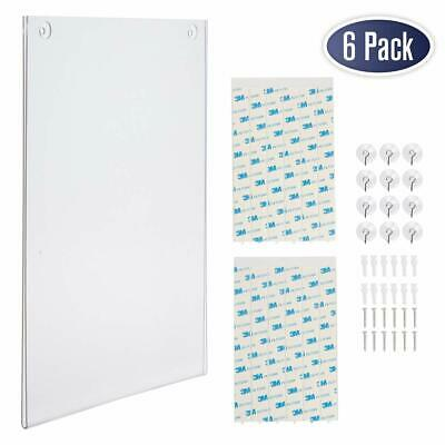 Acrylic Sign Holder 8.5 x 11 - Clear Frame Paper Holder with Multiple Mountin...