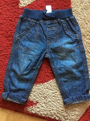 Baby Boys George Blue Jeans Size 0/3mths Good Condition