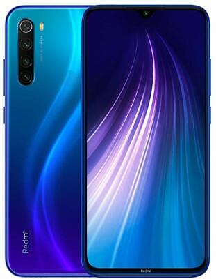 Xiaomi Redmi Note 8 4GB 64GB Blue Blu Versione Global Banda 20 GRADO A-